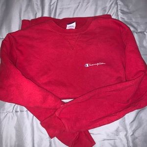 Red champion pullover
